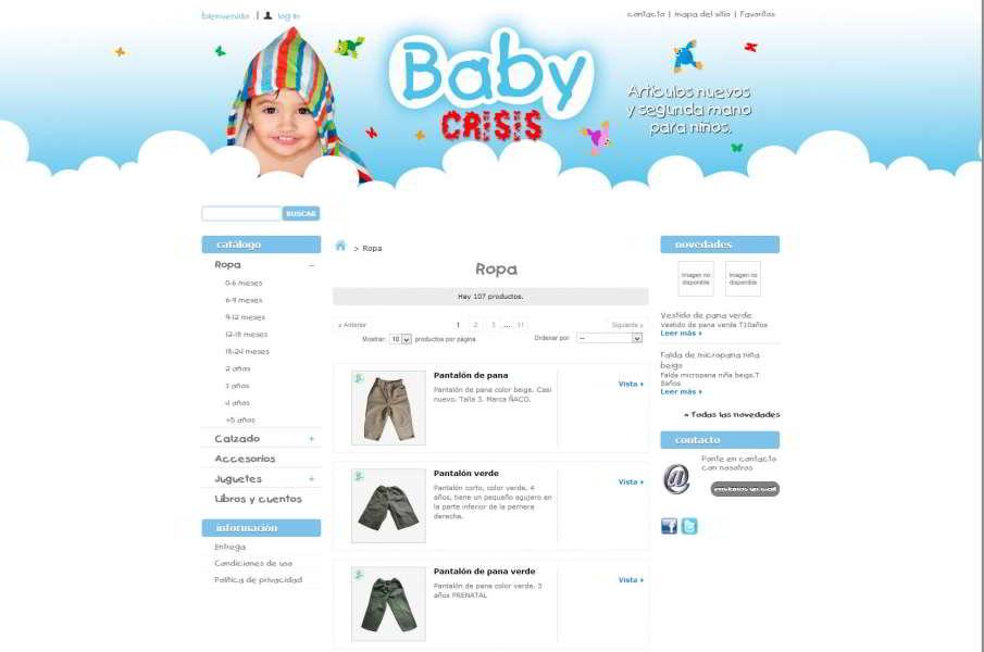 fb5d5c6f6 Tienda Online de Artículos para bebés - Sección de Ropa. Click para ver  galería